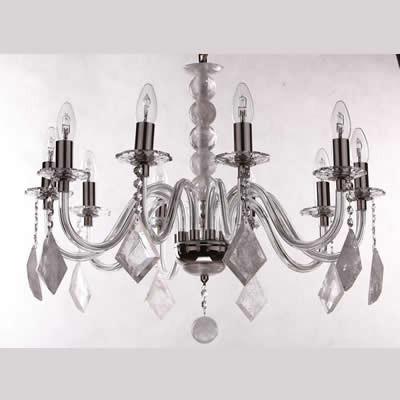 Weisberg, lampada a sospensione, lampadario, cristallo di rocca, 40W ...