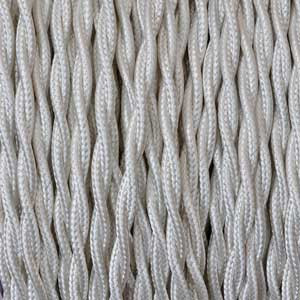 Cable textil 2x0,75mm² marfil