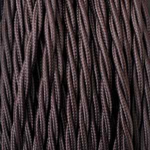 Textilkabel 2x0,75mm² braun