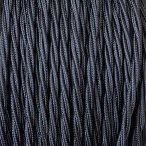 Textilkabel 2x0,75mm² schwarz