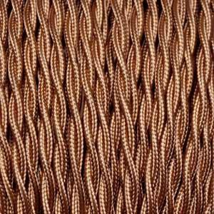 Textilkabel 2x0,75mm² whiskey