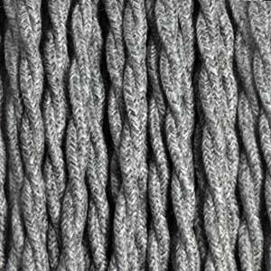 Cable textil 3x0,75mm² lino gris