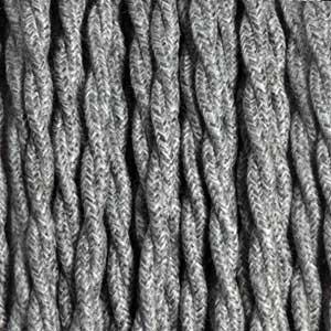Textilkabel 3x0,75mm² Leinen grau