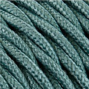 Textilkabel 3x0,75mm² Baumwolle salbei