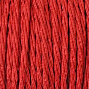 Textilkabel 3x0,75mm² rot