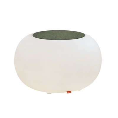 Bubble LED ACCU for garden and terrace with  anthracite seat cushion