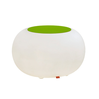 Bubble LED ACCU for garden and terrace with green cushion