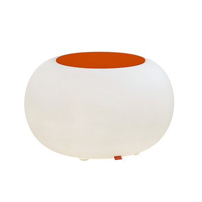 Bubble LED ACCU for garden and patio with orange cushions