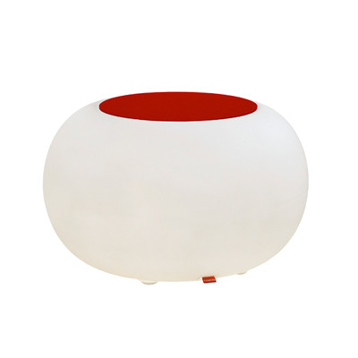 Bubble LED ACCU for garden and patio with red cushions