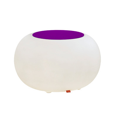 Bubble ACCU LED for garden and terrace with cushions purple