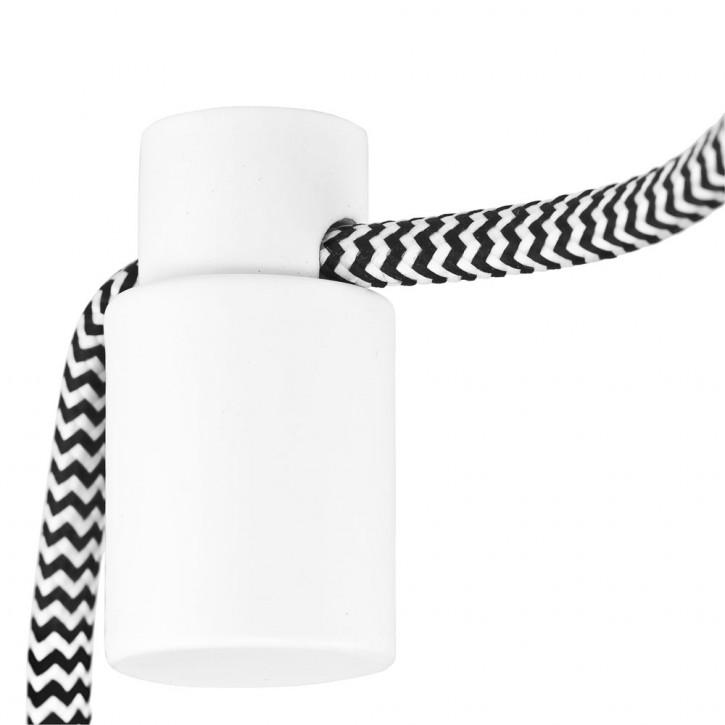 Support de câble métallique blanc