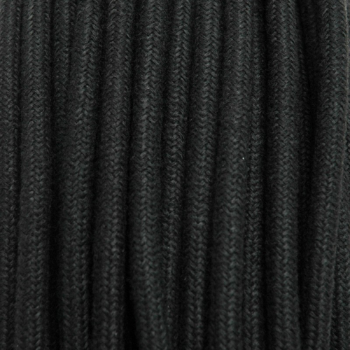 Textile cable 3x0,75mm² cotton black