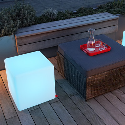Cube LED for garden and terrace