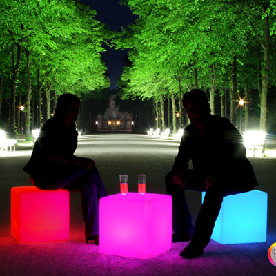Cube LED Accu for garden and terrace