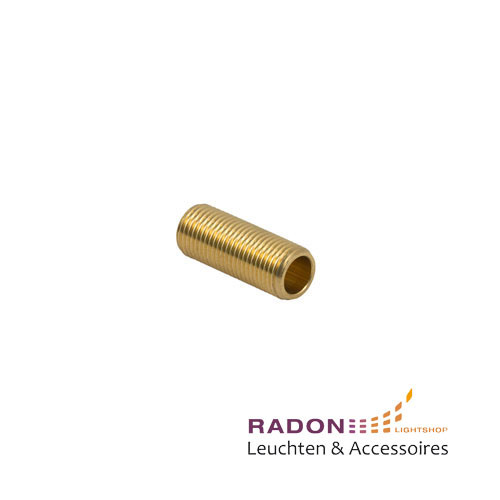 Threaded tube 25 mm brass