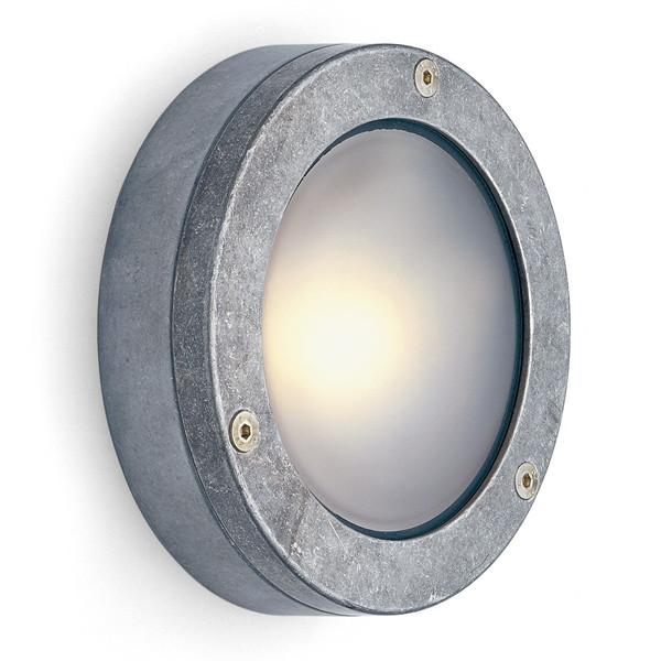 Lámpara al aire libre de aluminio plana