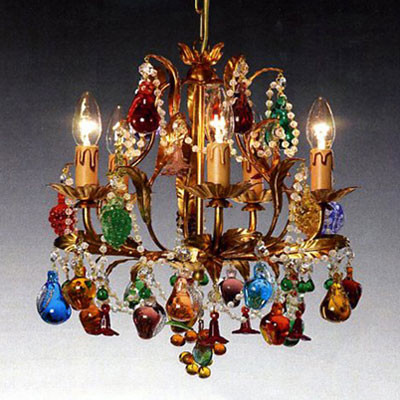 Murano Chandelier with Fruits