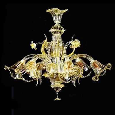 Murano Luster mit 24 Karat Goldeinzug