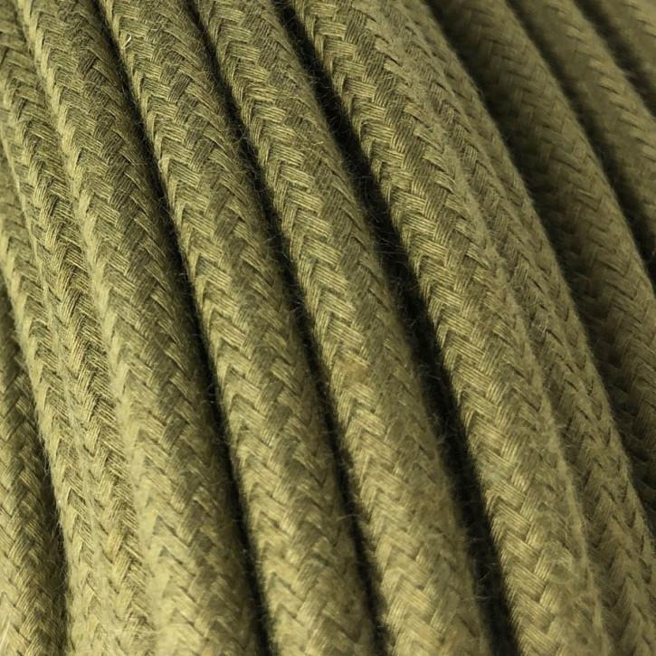 Textiles de algodón oliva 3x0,75mm² cable
