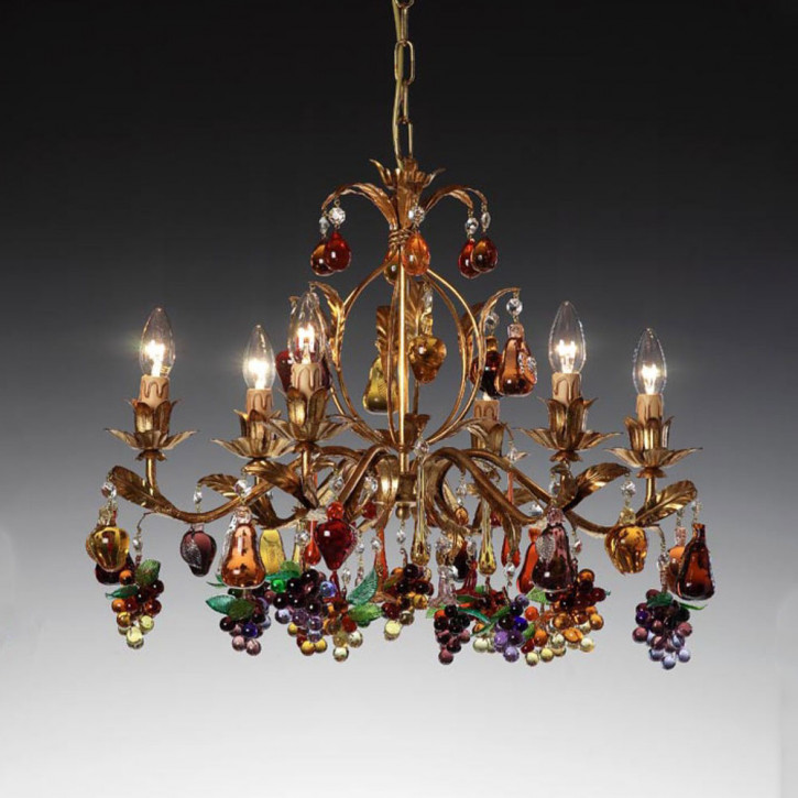 Murano chandelier with grapes