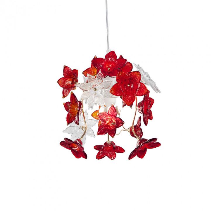 Edo - Leuchte mit roten Blüten