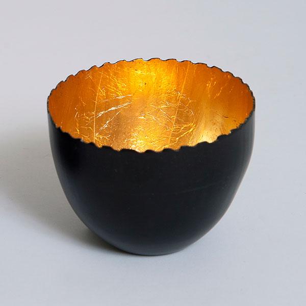 holl nder windlicht lichtschale metall schwarz gold rund. Black Bedroom Furniture Sets. Home Design Ideas