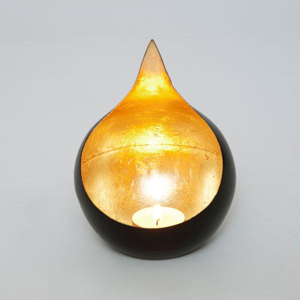 holl nder windlicht lichtschale kerzenleuchter teelichter schwarz gold. Black Bedroom Furniture Sets. Home Design Ideas