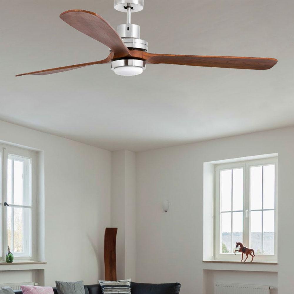 faro led deckenventilator ventilator f r die decke stahl holz smd led 12w 3000k. Black Bedroom Furniture Sets. Home Design Ideas