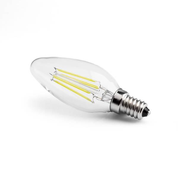 led value gluehfadenlampe e14 4w 420lm 4000k 260v klar. Black Bedroom Furniture Sets. Home Design Ideas