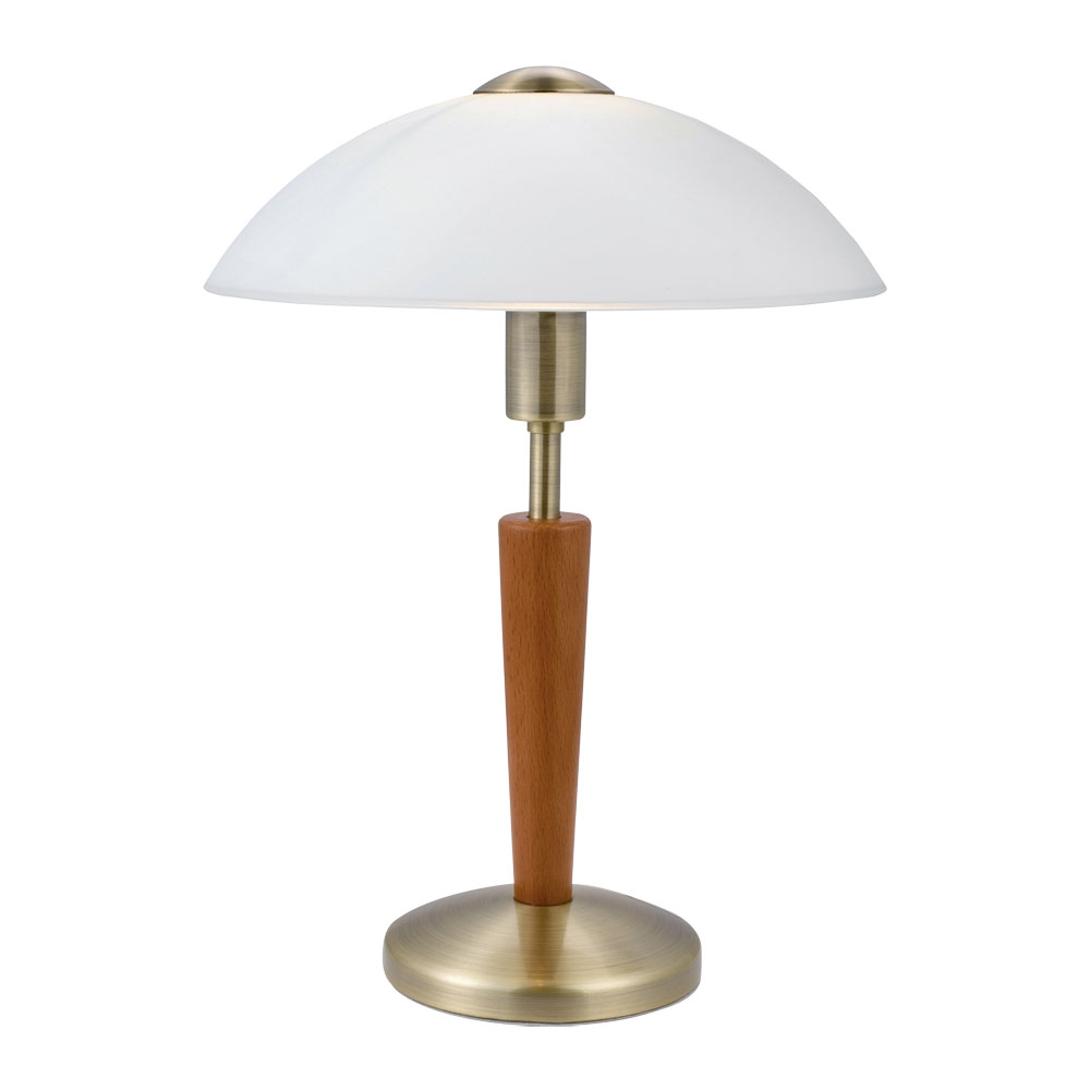 Eglo, Table Lamp, Steel, Black Oxide, Frosted Glass, White, E14, 60W, LED,  6W, Touch Dimmer Function