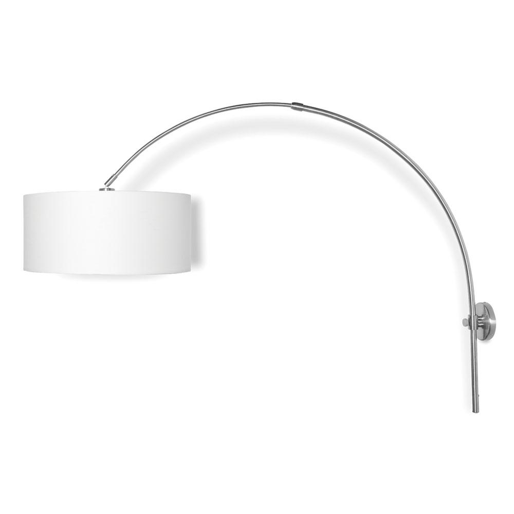 Il suo proposito di Romi, lampada da parete, ferro, nichel opaco, E27, 60W, 13W LED