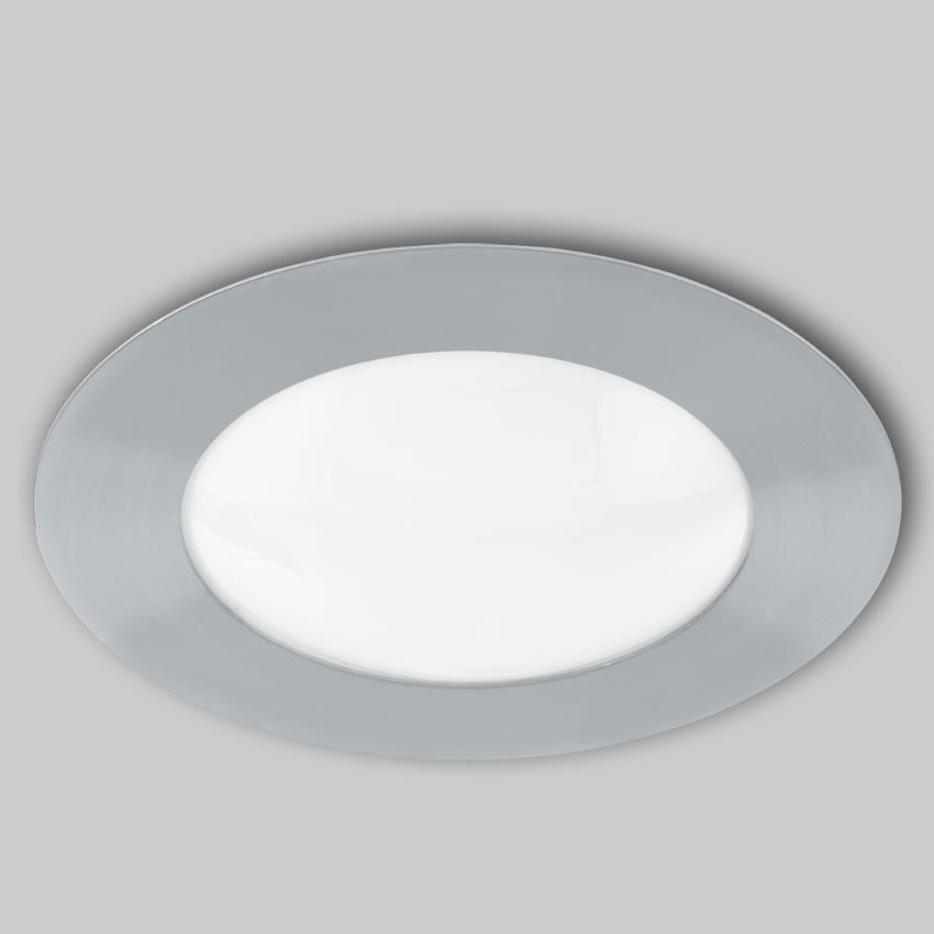 Eglo lampe de plafond salle de bains acier chrome for Lampe plafond salle de bain