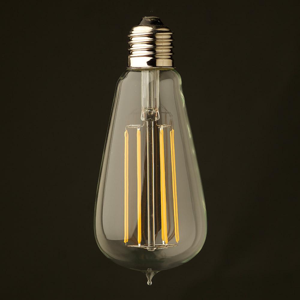 edison licht kugel led gl hfaden edison birne e27 6w 2200k 630lm. Black Bedroom Furniture Sets. Home Design Ideas