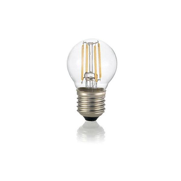 Ideal Lux, LED Filament, Mini Birne, Ganzglas, klar, E27, 4W, 430lm ...