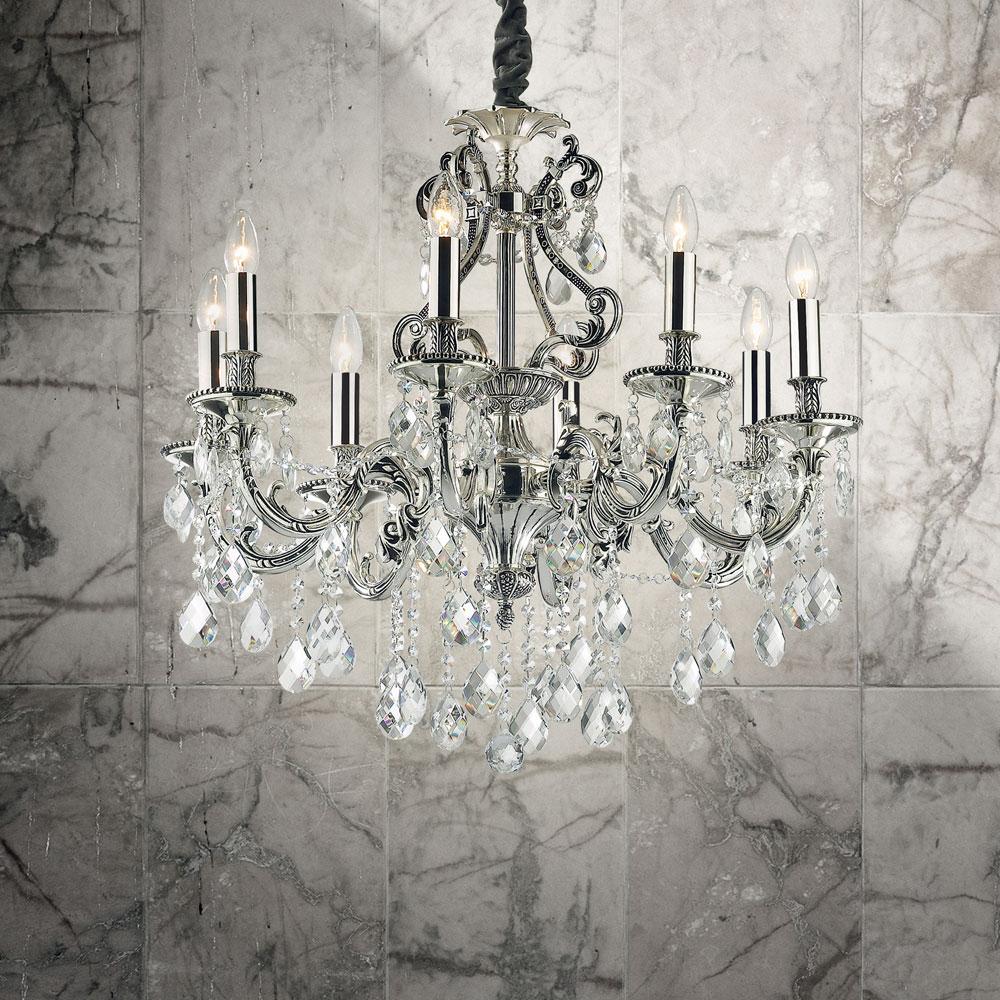 Ideal lux kristallluster kristallleuchter pendelleuchte for Kristall leuchte