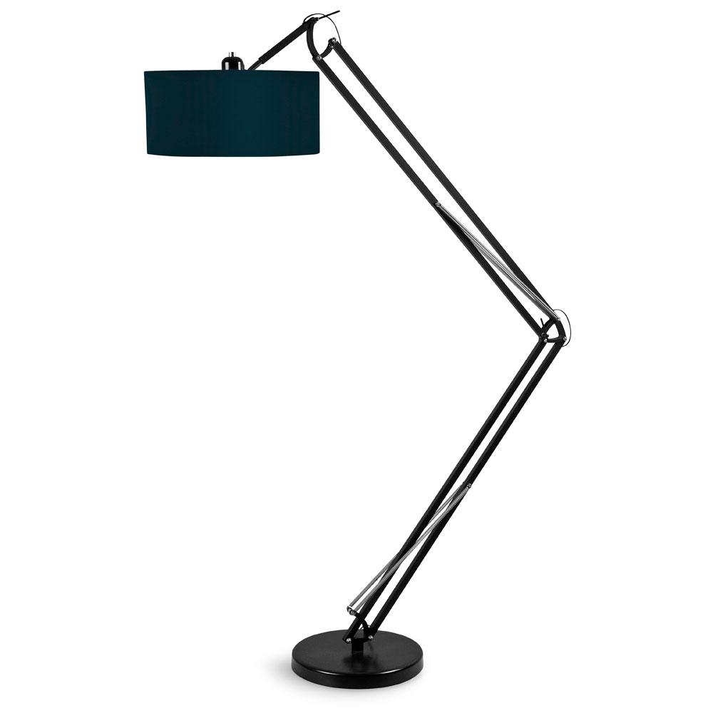 its about romi stehleuchte stehlampe metall schwarz e27 textilkabel 60w led 4w. Black Bedroom Furniture Sets. Home Design Ideas