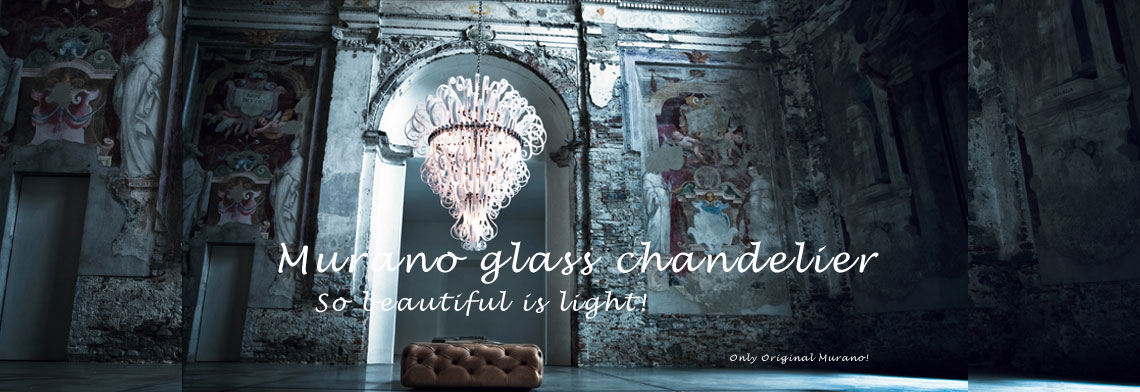 Mrano glass chandeliers