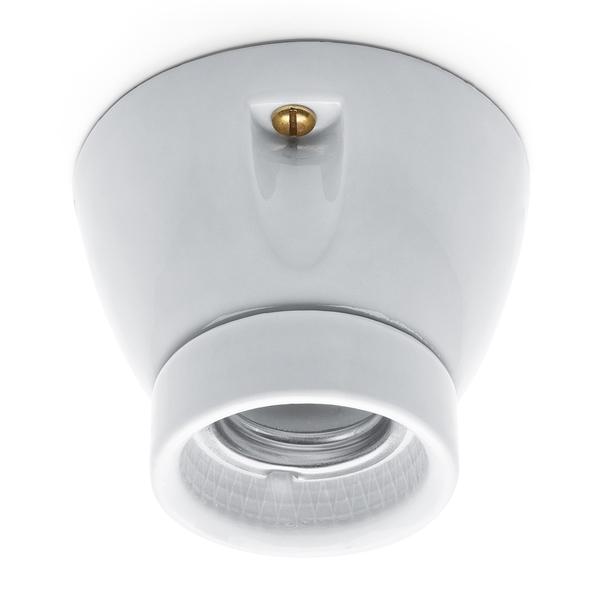 Thpg douille en porcelaine e27 75w 230v - Douille ampoule plafond ...