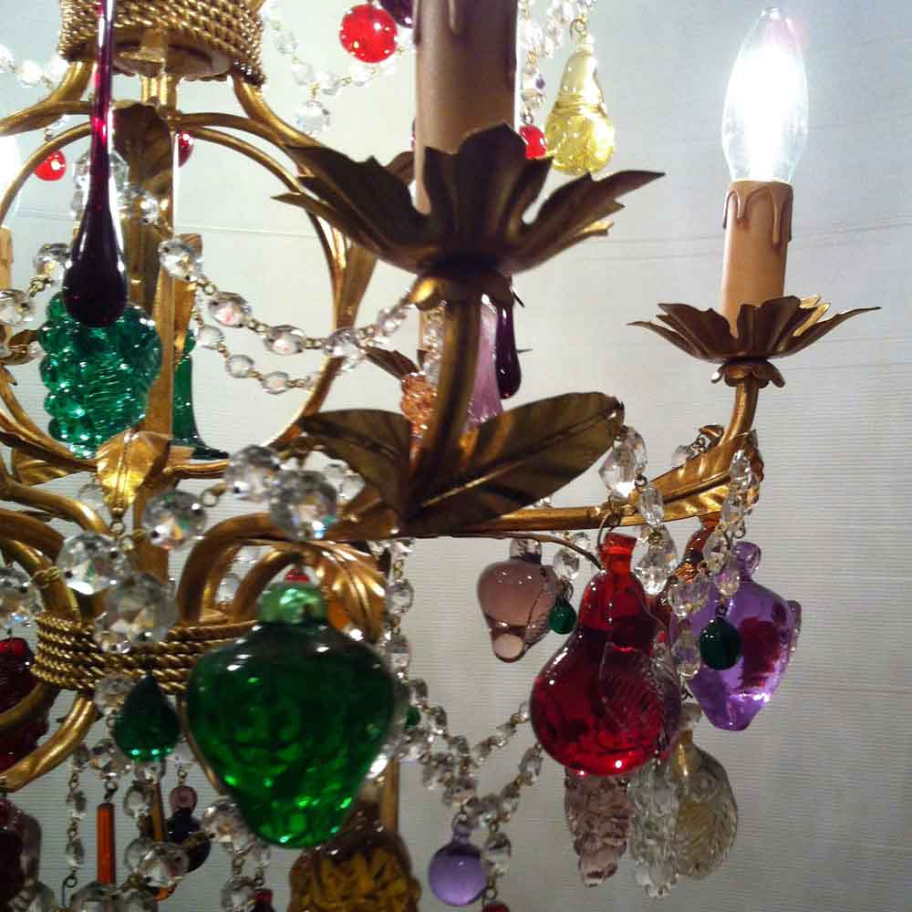 Radon lightshop murano glass chandeliers gold fruit glass murano chandelier with fruit aloadofball Images
