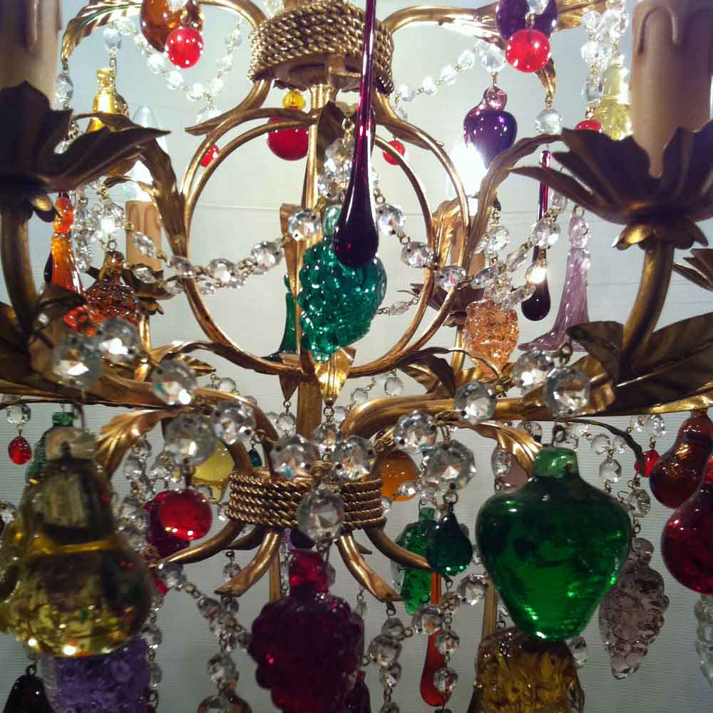 Radon lightshop murano glass chandeliers gold fruit glass murano chandelier with fruit mozeypictures Images