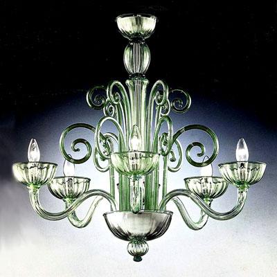 Radon Lightshop, vetro di Murano, lampade da soffitto, E14 ...