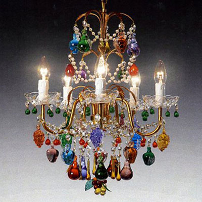 lampadario vetro colorato : Radon Lightshop, Murano lampadario in vetro, luce della parete, E14 ...