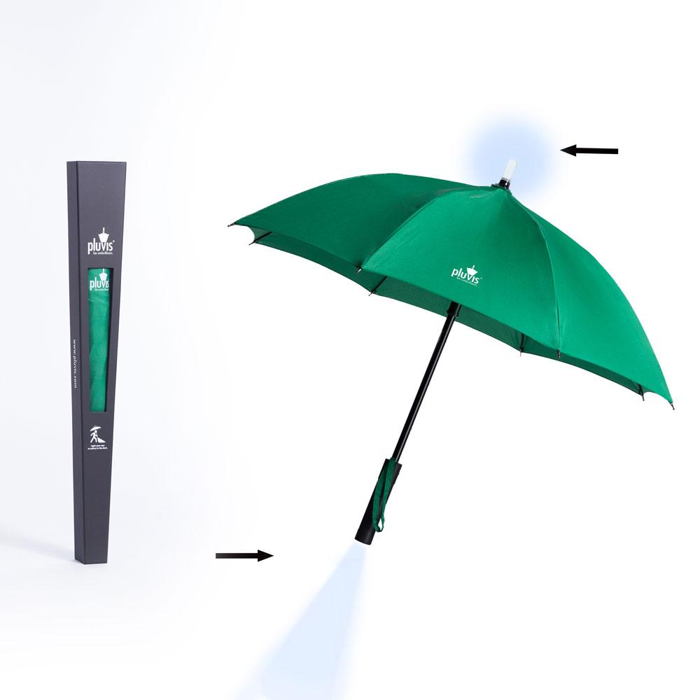 vanguardia de los tiempos siempre popular sitio web para descuento Pluvis paraguas verde
