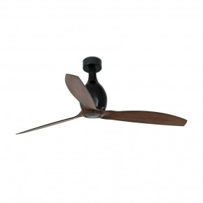 Mini Eterfan Matt black/wood ceiling fan with DC motor