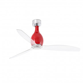 Mini Eterfan Shiny red/transparent ceiling fan with DC motor