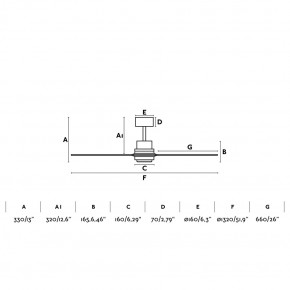 Lantau Nickel matt Deckenventilator