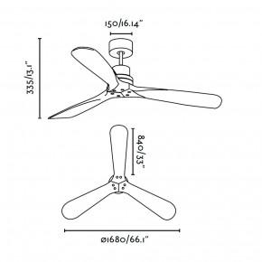 Lantau-G Nickel matt Deckenventilator