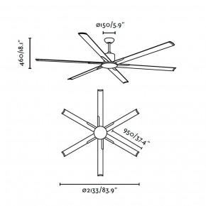 Andros eloxiert grau Deckenventilator