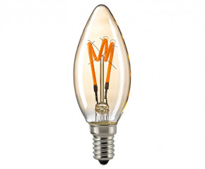 LED Filament Kerze Spiral Gold E27 3,5W 230lm 2000K dimmbar