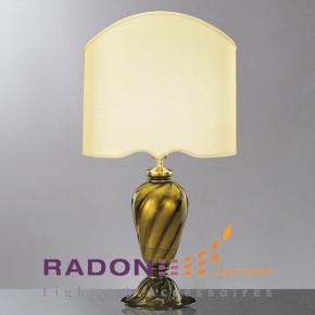 Muranoglas Leuchte Schwarz/Gold